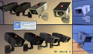 Mod The Sims: Security Camera Made Buyable and Recolours