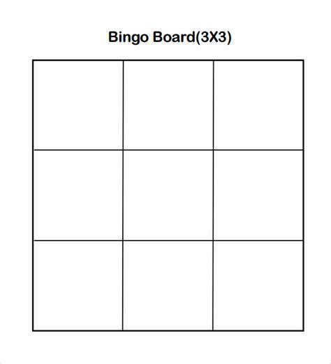sample bingo card  documents   word