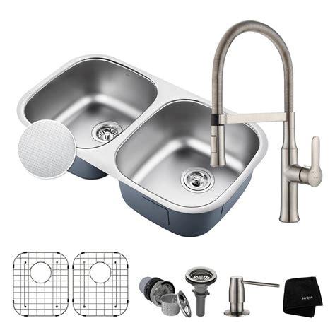 premium kitchen sinks kraus outlast all in one undermount stainless steel 32 in 1640