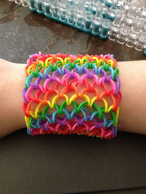 rubber band designs diy scale cuff loom bracelet free guide