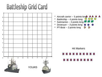 Battleship Game Coordinate Graphing Game By Jay Wallace Tpt