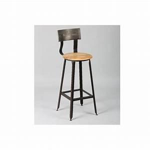 Chaise Bar Bois : chaises de bar tables et chaises chaise de bar olympe en acier vieilli inside75 ~ Teatrodelosmanantiales.com Idées de Décoration