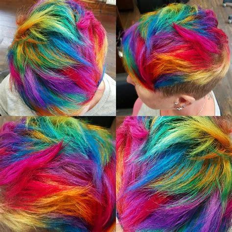 Short Rainbow Hair By Jaymzcutshair Hair Ideas Short