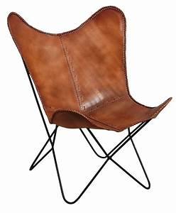 Chaise Cuir Maison Du Monde : fauteuil papillon en cuir ~ Teatrodelosmanantiales.com Idées de Décoration