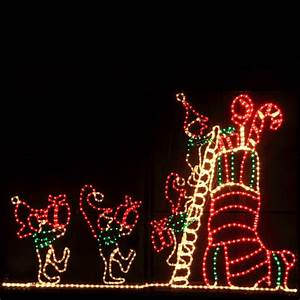 animated elf and stocking outdoor christmas decoration With outdoor christmas lights for sale in dublin