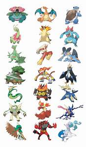 Black And White Pokemon Starters Final Evolutions Pictures
