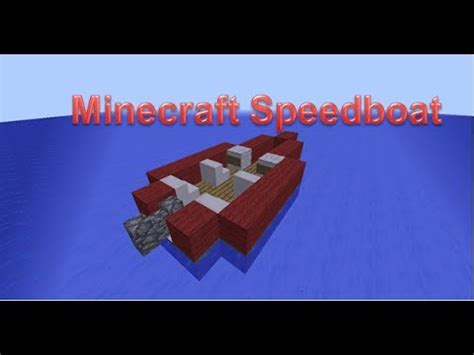 How Do You Make A Boat In Minecraft Pocket Edition by Minecraft Speed Boat Tutorial