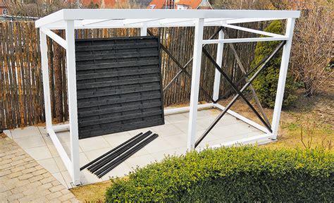carport mit gerätehaus ger 228 teschuppen selber bauen ger teschuppen selber bauen