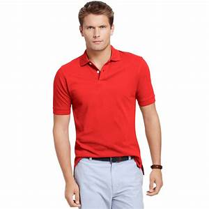 Lyst - Izod Pima Cotton Polo Shirt in Red for Men