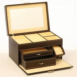 Boite A Bijoux Grande : grande bo te bijoux simili cuir luxe ~ Teatrodelosmanantiales.com Idées de Décoration