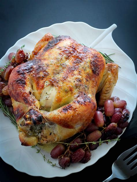 Herb Roasted Chicken And Grapes  Jehan Can Cook