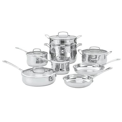 cuisinart cookware stainless piece contour lids sets