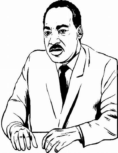 Luther Martin King Coloring Jr Pages Sheets