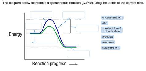 Solved The Diagram Below Represents A Spontaneous Reactio Cheggcom