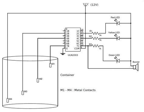 A C Float Switch Wiring Diagram Free Picture by Simple Water Level Indicator With Alarm 3 Tested Circuits