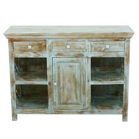 country kitchen mango wood open shelves buffet sideboard