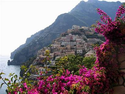Italy Positano Flowers Coast Amalfi Nature Resort