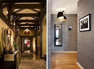 Tapete Flur Modern : peinture couloir et d coration de l 39 entr e 57 id es en couleurs ~ Frokenaadalensverden.com Haus und Dekorationen