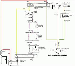 96 97 98 Mustang Altenator Starting And Charging System Wiring Diagram