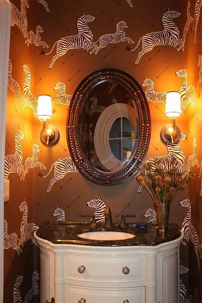 Scalamandre Zebra Powder Hanging Chinoiserie Bathroom Theglampad