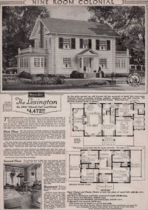 real sears roebuck mail order craftsman home colonial house plans colonial