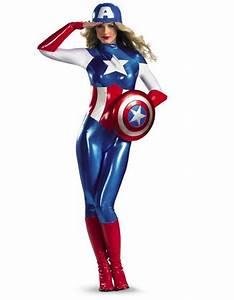 Kostüm Superhelden Damen : marvel captain america bodysuit damen kost m kost me ~ Frokenaadalensverden.com Haus und Dekorationen