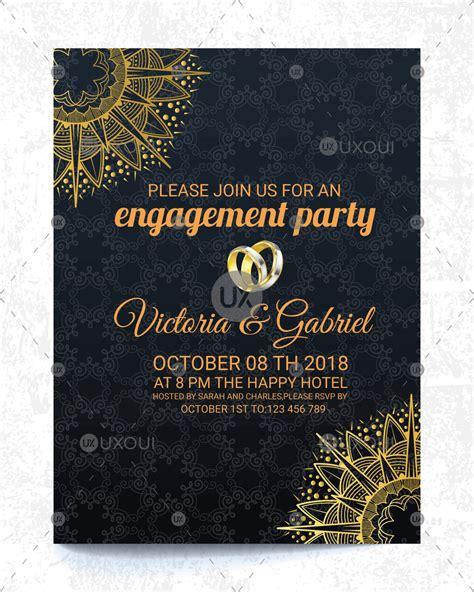 Nice wedding engagement invitation card design vector in