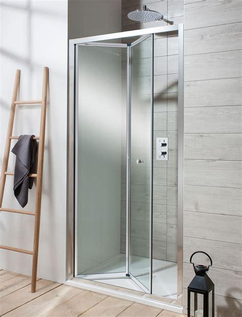 edge bifold shower door  framed luxury bathrooms uk