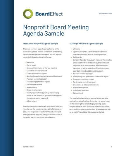 fundraising meeting agenda templates  word