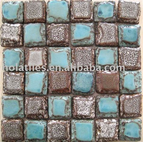 turquoise and brown tiles western decor