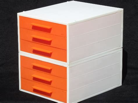 Vintage 60s 70s Modular Stacking Drawers Paper Trays, Orange & White Plastic How To Build A Plywood Chest Of Drawers Kitchen Drawer Tidy Uk Pulls Satin Nickel Single Ice Maker Wooden Bunk Bed With Desk And Repurposing Old 6 Solid Wood Dresser Wicker Unit White