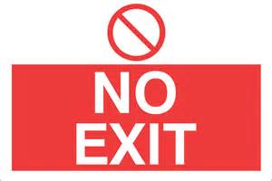 Printable No Exit Signs