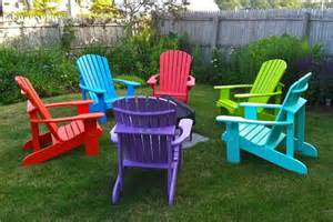 adirondack chairs in color