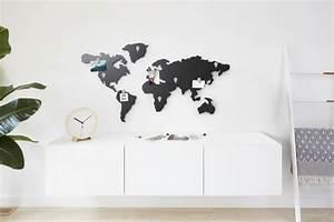 Carte Du Monde Deco : carte du monde d coration murale et tableau magn tique 39 mappit 39 umbra axeswar design ~ Teatrodelosmanantiales.com Idées de Décoration