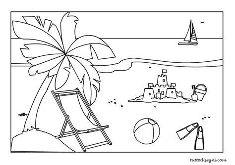 spiaggia disegni estate colorati spiaggia mare da colorare tuttodisegni