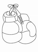 Boxing Gloves Coloring Pages Printable Categories Coloringonly sketch template