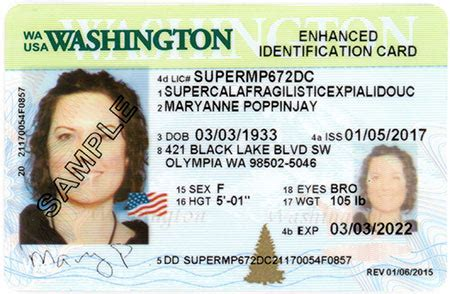wa state licensing dol official site id card designs