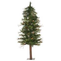 shop vickerman 4 ft 217 count alpine slim artificial christmas tree at lowes com