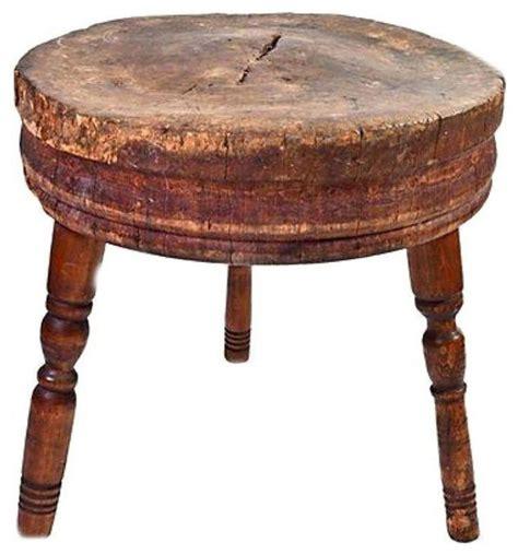 Antique Round Butcher Block Table  $1,100 Est Retail