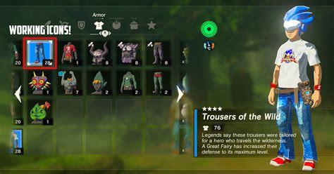 sonic man inventory icons botw  legend  zelda
