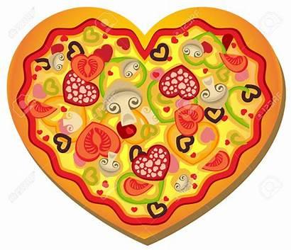 Pizza Clip Heart Clipart Clipartpanda Shape Valentine
