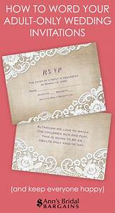 how to word your adult only wedding invitations ann39s With wedding invitation wording samples adults only