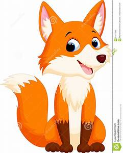 Cute Fox Cartoon Stock Illustration - Image: 61377289