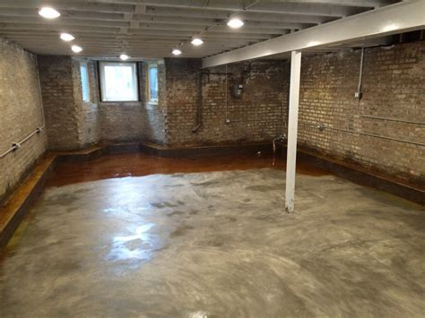 Basement Floor Acid Staining   Two Flat: Remade
