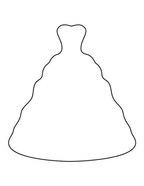 wedding dress pattern   printable outline