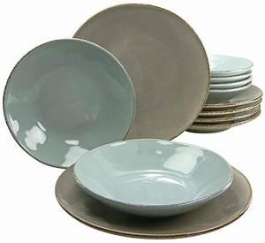 Geschirr Set Steingut : creatable tafelservice oslo 12 tlg steingut antik look bohemian living otto ~ Watch28wear.com Haus und Dekorationen