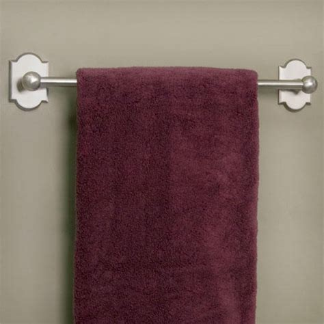 Solid Bronze Towel Bar with Decorative Base   Bathroom