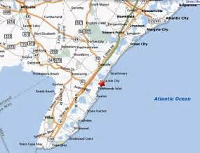New Jersey Shore Map