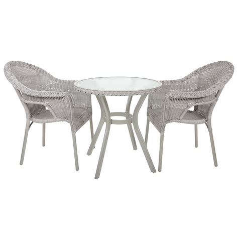 bistro set rattan wicker 2 seat garden patio