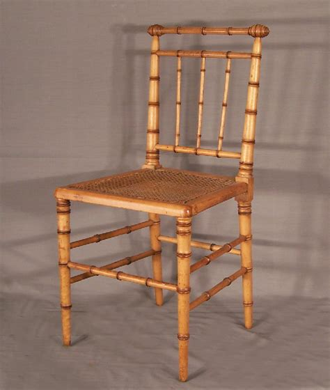 7734 American Victorian Faux Bamboo Side Chair C1880 For